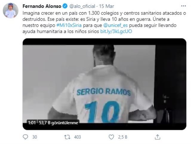 UNICEF'ten Suriye için paylaşım! İspanyol sporcular kampanyaya büyük destek verdi